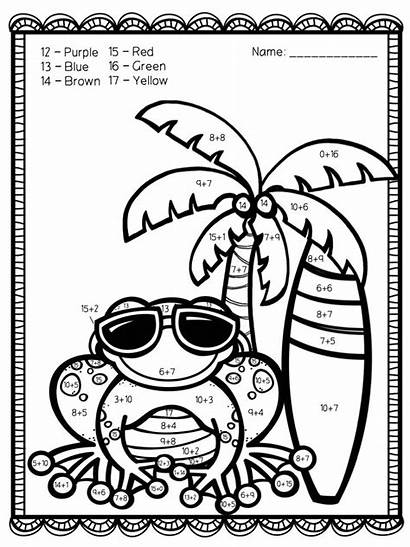 Addition Number Coloring Pages