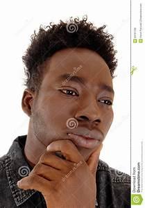Heat shot of black man. stock photo. Image of male, eyes ...