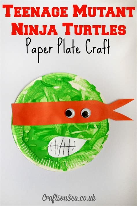 mutant turtles paper plate craft 728 | 6b705ab42ccbf2e87f02d7fd2621a53d