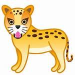 Leopard Icon Emoji Google Android Animals Nature
