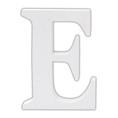 letter e classic white wooden alphabet letters