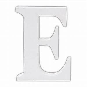 classic white wooden alphabet letters With white letter decals