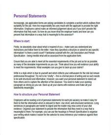 personal statements for applications sles 8 personal statement exles sles