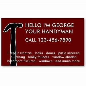 simple handyman business cards business card design With handy man business card