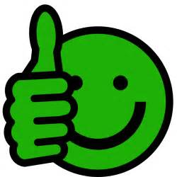 Thumbs Up Smiley-Face Clip Art