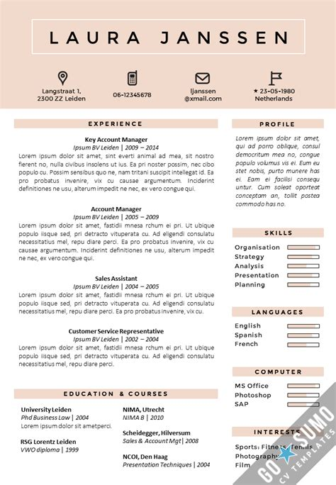 curriculum vitae layout template cv template tokyo go sumo cv template