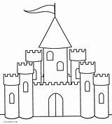 Castle Coloring Pages Printable Simple Cool Drawing Princess Drawings Cool2bkids Preschoolers Easy Sheets Draw Sketches Very Painting Disney sketch template
