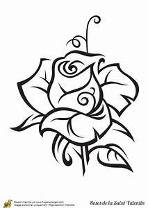 Dessin Saint Valentin : coloriage rose saint valentin sur ~ Melissatoandfro.com Idées de Décoration