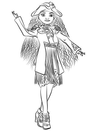 kids  funcom  coloring pages  disney descendant wicked world