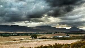 Wallpaper, Landscape, Hill, Lake, Nature, Sky, Rain, Field, Clouds, Storm, Cold, Morning