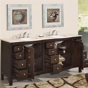 72 perfecta pa 5126 bathroom vanity double sink cabinet With dark walnut bathroom cabinet