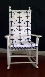 rocking chair cushion cover navy anchor ready to ship