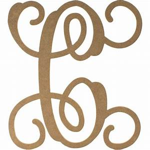 12quot wood letter vine monogram c ab2198 craftoutletcom With initial letters