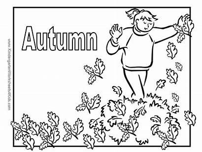 Autumn Coloring Fall Pages Leaves Children Into
