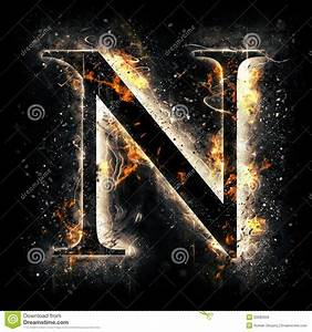 Fire Letter N Stock Illustration - Image: 50682059