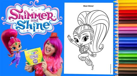 Coloring Kimmi by Coloring Shine Shimmer And Shine Coloring Book Page
