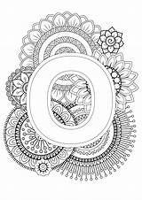 Mindfulness Coloring Pages Alphabet Colouring Letter Letters Adult Sheets Patterns Mandala Books Visit Designs Sunflower sketch template