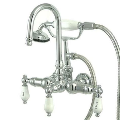 clawfoot tub faucet shower kingston brass wall mount clawfoot tub faucet with