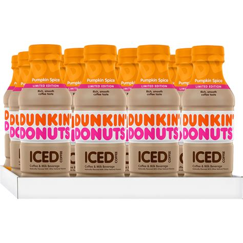 Dunkin' donuts is getting cookie dough flavored iced coffee for the 2018 summer season. Dunkin' Donuts Pumpkin Spice Iced Coffee Bottles, 13.7 fl oz, 12 Pack | Shop | Houchen's My IGA