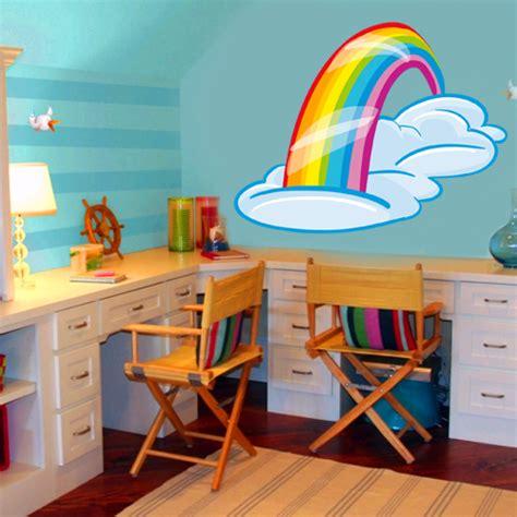 chambre enfants pas cher sticker enfant arc en ciel pas cher