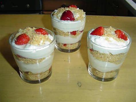 recette de verrines au mascarpone et fraises