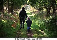 Image result for Royalty Free Clip Art of Father And child Walking in woods