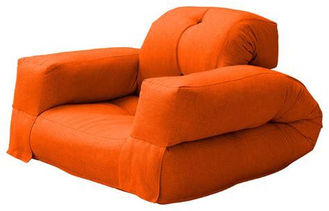 Hippo Convertible Futon Chair/bed, Orange Mattress
