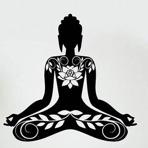 Aliexpress com : Buy Buddha Vinyl Decal Buddha Meditation Mantra Zen Yoga Mural Art Wall Sticker