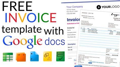 invoice templates  google docs