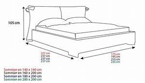 Lit Simple Dimension : grandeur lit simple standard table de lit ~ Teatrodelosmanantiales.com Idées de Décoration