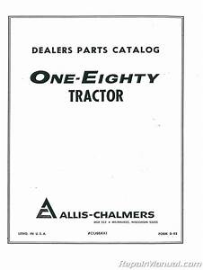 Allis Chalmers 180 Diesel Parts Manual