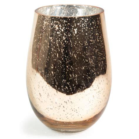 vase en verre dore   cm antic gold maisons du monde
