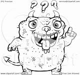 Dumb Devil Cartoon Ugly Coloring Clipart Pages Outlined Die Ways Vector Cory Thoman Printable Royalty sketch template