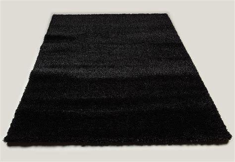 tapis de salon noir shaggy moderne 3 dimensions au choix