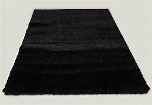 tapis de salon noir shaggy moderne 3 dimensions au choix With tapis noir salon