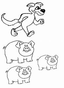 Three Little Pigs Black And White Clipart (28+)