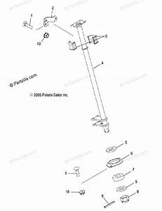 Polaris Atv 2005 Oem Parts Diagram For Steering Post   Ac