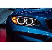 Car BMW M2 Headlights Blue Lines Kidney Grille