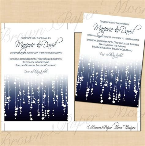 star streamers printable wedding invitations