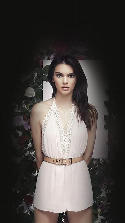 Jenner Kendall Dark Iphone Flower Wallpapers Plus