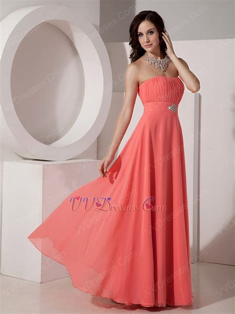 melon colored dress watermelon corset back bridesmaid dress for wedding