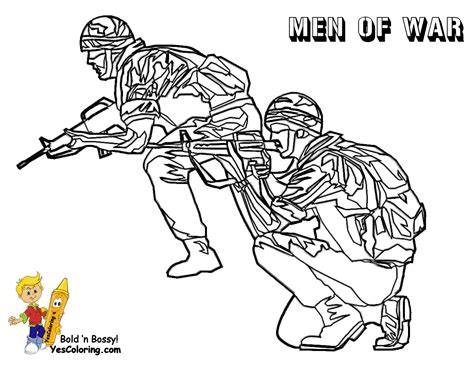 Gusto Coloring Pages To Print Army Free