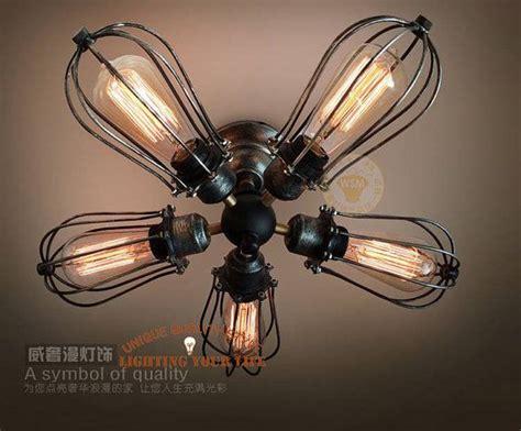 Edison Bulb Ceiling Lamp Steampunk Handmade Vintage