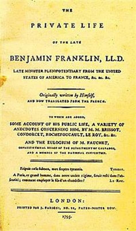 Benjamin Franklin Resumen Corto by Autobiograf 237 A La Enciclopedia Libre