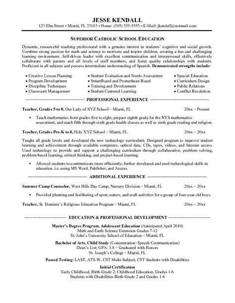 exle of education on resume 28 images non certified