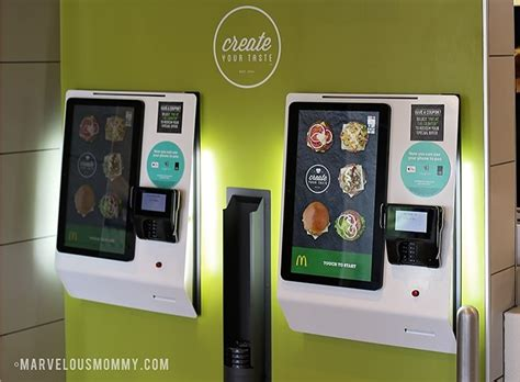 mcdonalds  create  taste touch screen ordering