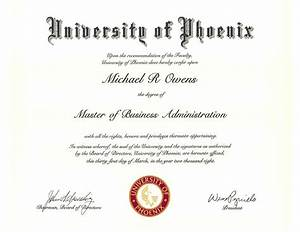 University of phoenix diploma & transcript