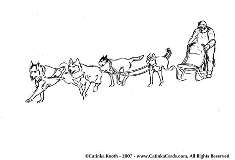 Husky clipart iditarod - Pencil and in color husky clipart ...