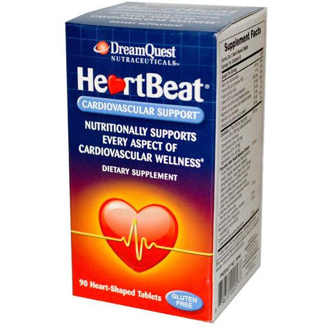 Dream Quest Nutraceuticals, HeartBeat, Cardiovascular Support, 90 Heart Shaped Tablets   iHerb.com