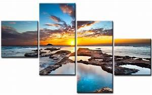 Bilder Leinwand Xxl : waterland leinwand 4 bilder sunrise m40718 xxl die leinwandfabrik ~ Orissabook.com Haus und Dekorationen